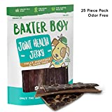 """Baxter Boy 6"""" Joint Health Beef Jerky Dog Treat Chews (25 Pack) – Gourmet, Fresh and Tasty Beef Gullet Jerky – Naturally Rich in Glucosamine and Chondroitin – Promotes Healthy Joints and Tissue Growth For Sale"""