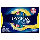 Tampax Pocket Pearl Plastic Tampons, Regular Absorbency, Unscented, 36 Ct, Packaging May Vary