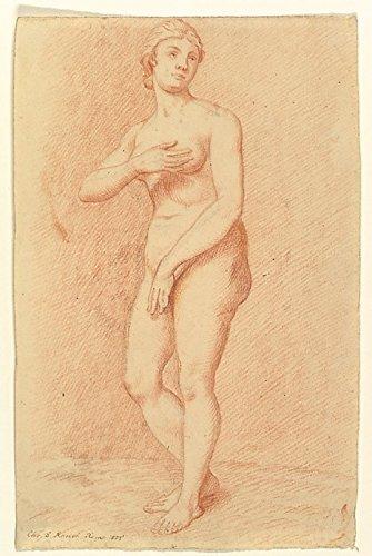 Standing Female Nude (after the Medici Venus) Poster Print by Christian Daniel Rauch (German Arolsen 1777-1857 Dresden) (18 x 24)