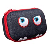 ZIPIT Wildlings Pencil Case/Pencil Box/Storage Box, Black