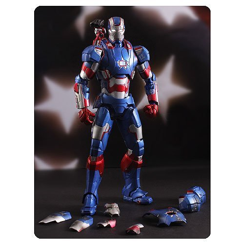 Iron Man 3 Iron Patriot Super Alloy 1:12 Scale Die-Cast Metal Action Figure by Comicave Studios (Super Alloy Iron compare prices)