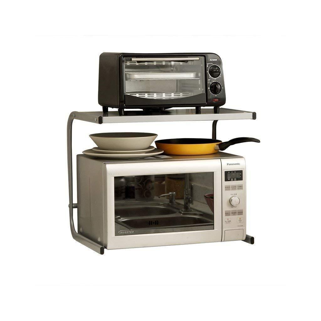 304 Stainless Steel Kitchen Rack Microwave Oven Rack Floor Double-Layer Table Top Seasoning Storage Oven Rack