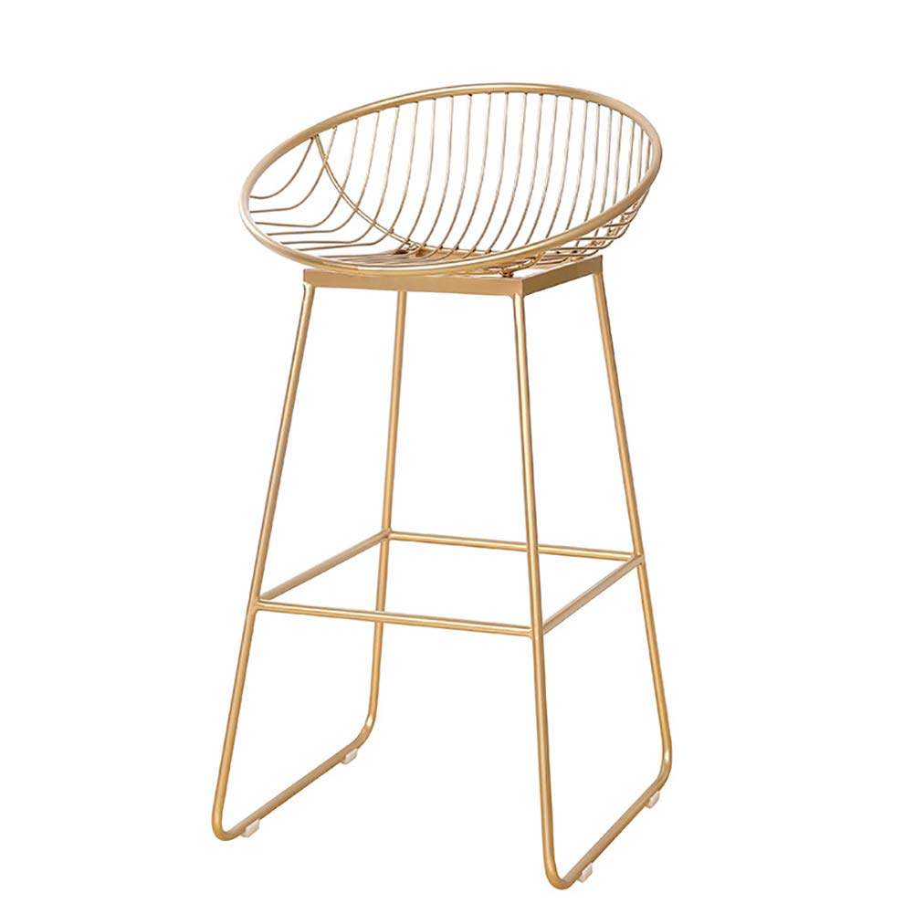 gold 62CM Breakfast Bar Stool,Kitchen Stool Bar Stool  Home Counter,Pu Counter Iron Frame Easy to Clean Ergonomics, Sitting Height 62,72 cm