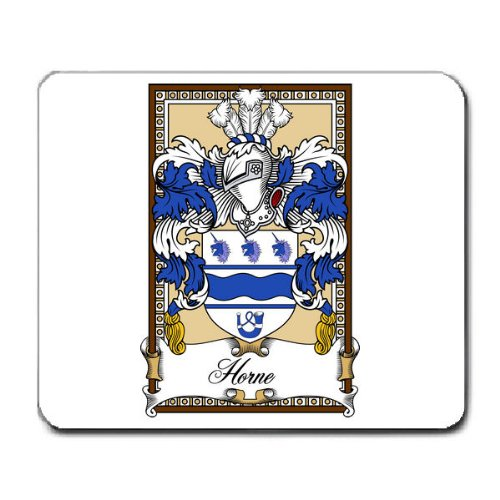 - Horn or Horne Family Crest Coat of Arms Mouse Pad