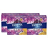 TAMPAX Radiant, Regular, Plastic Tampons, Unscented, 112 Count   (Packaging May Vary)