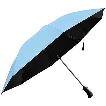 Lintimes Plegable Paraguas automático Paraguas Cortavientos Reverse protección Solar tamaño Grande con Reforzado 8 Costillas Auto
