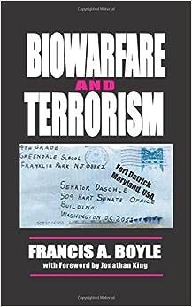 Book Biowarfare& Terrorism
