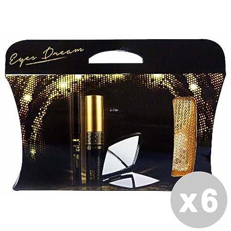 Astra Set 6 caja de regalo embrague ojos sueño Delineador de ojos + máscara de pestañas + Espejo: Amazon.es: Salud y cuidado personal