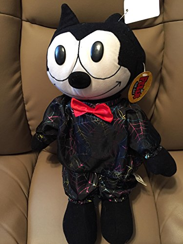 Felix The Cat in Metallic Spiderweb Costume Plush (Felix The Cat Plush)