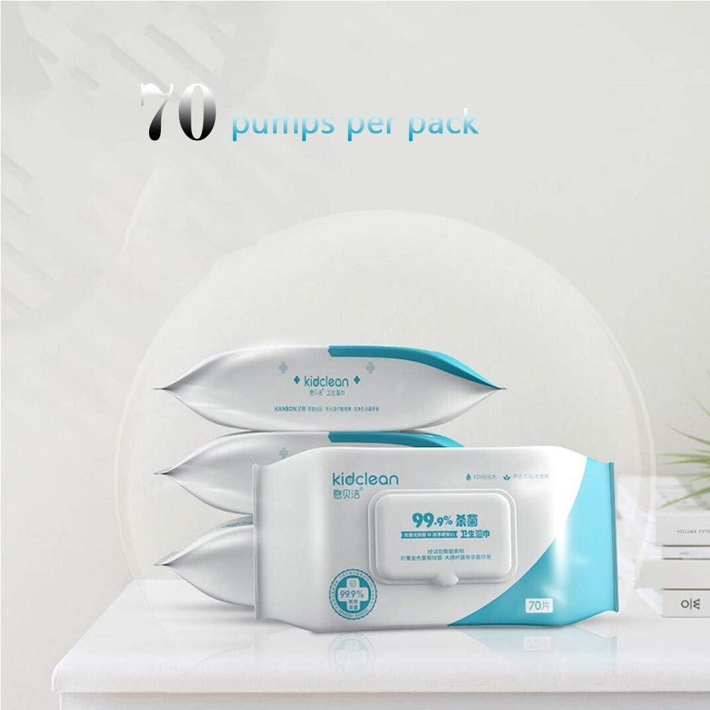 pour Peaux Sensibles Waterwipes 70 Lingettes//Paquet Trisee Lingette Humide Antibact/éRienne pour Soins de Sant/é des Mains Propres