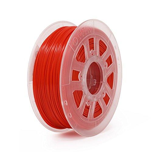 (Gizmo Dorks Silk PLA 3D Printer Filament 1.75mm 1kg, High Gloss Red)