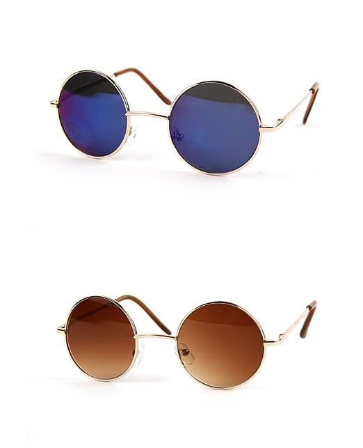 Amazon.com: anteojos de sol hippie de paz de 60 Retro Ronda ...