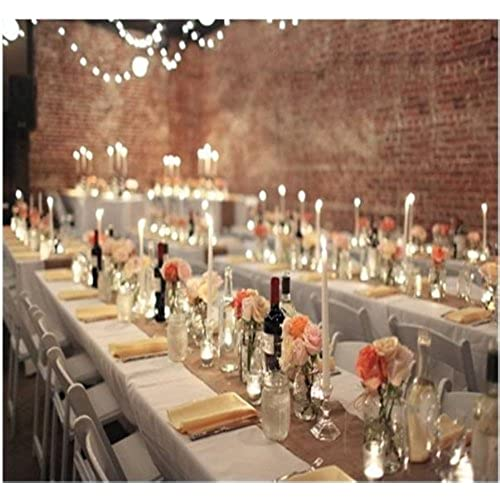 Country chic wedding decorations amazon burlap table runners rustic weddings or events 102x12 inch jute burlap table runner for country wedding decorations bridal shower baby shower decor rustic junglespirit Images