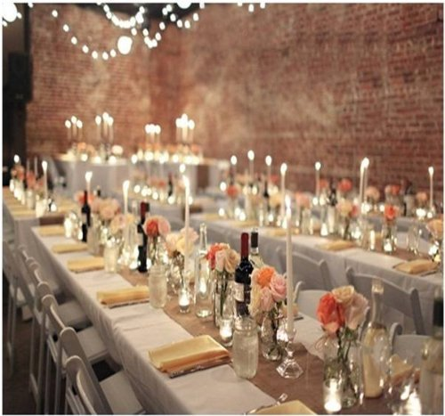 Burlap table runners rustic weddings or events 102x12 for 102 inch table runners