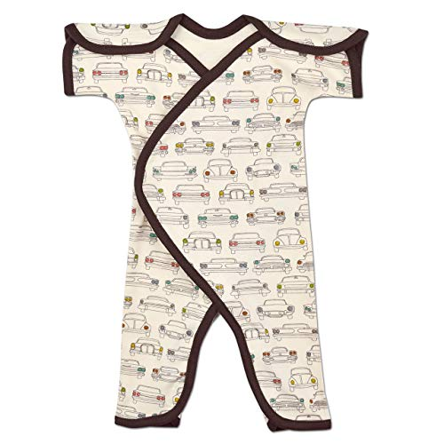 Perfectly Preemie Short Sleeve NIC-Jumpsuit - NICU Friendly (Headlamps - Organic, Preemie)