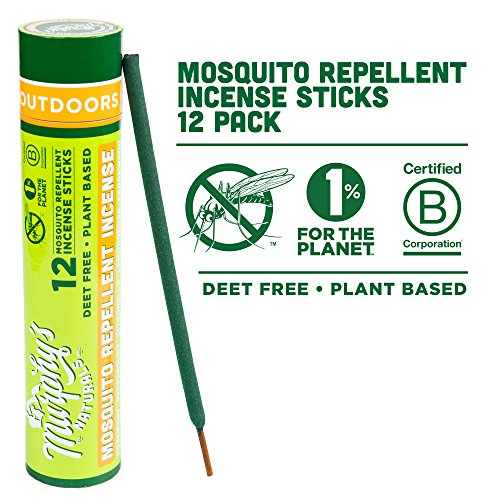 Murphy's Naturals Mosquito Repellent Incense Sticks - Bamboo Infused with Citronella, Rosemary & Lemongrass - 12 Incense Sticks