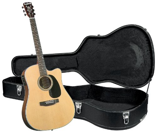 Blueridge BR-60CE Contemporary Series Cutaway Acoustic-Electric Dreadnought Guitar with Hardshell Case