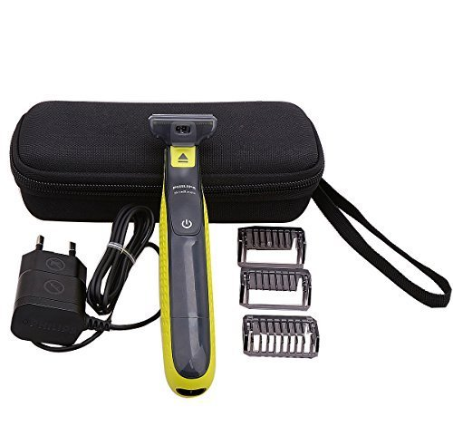 Price comparison product image Hard Travel Carry Case for Philips Norelco OneBlade QP2520/90/70 Hybrid Electric Trimmer and Shaver with Mesh Bag by Aproca (black)
