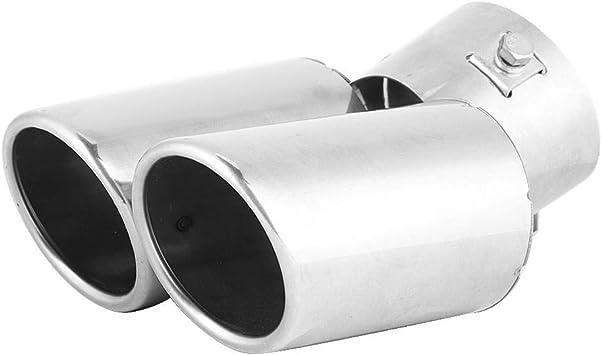 Flach Hlyjoon Endrohre Auspuff 30-51mm Auto Auspuffendrohr Kfz Auspuffblende Endrohr Edelstahl Endrohr Auspuffanlage Korrosionsbest/ändig