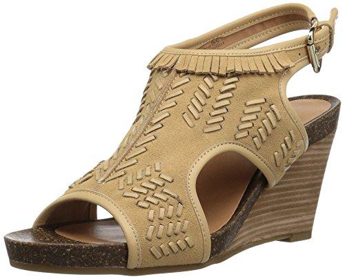Aerosoles Womens Sandal Lichtgeel Suede