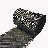 """5 FT x 12"""" - Carbon Fiber FABRIC-2x2 Twill WEAVE-3K/220g"""