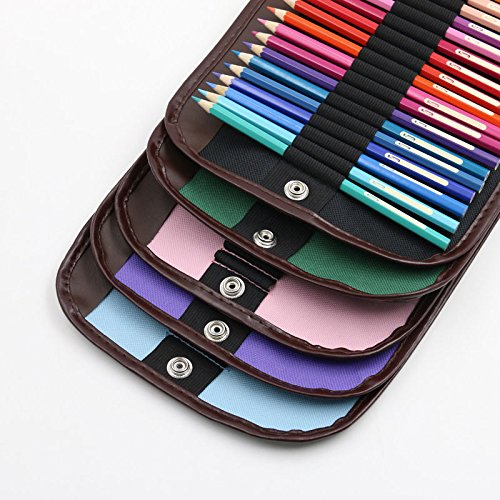 Canvas Pencils Pen Brush Case Pouch Pocket Bag for 72 PCS Pencils Holder Case
