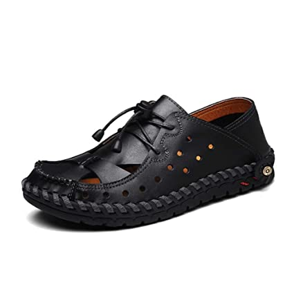 a02d846840920 Amazon.com : GHFJDO Men's Outdoor Shoes, Summer Slide Closed Sandals ...