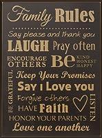 P. Graham Dunn SER11 Family Rules-11X15 Blk