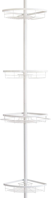 Estantería en esquina telescópica de alta calidad hasta máximo de aprox. 290 cm (blanco): Amazon.es: Hogar