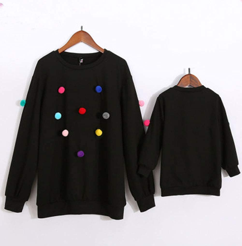 Christmas Mother Daughter Matching Sweatshirts Blouse Pullover Loose Tunic Tops