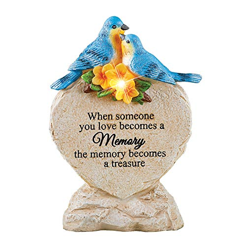 (Collections Etc Solar Bluebird Treasure Saying Memorial Hand-Painted Realistic Stone with)