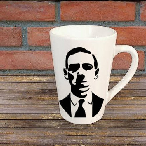 HP Lovecraft Author Mug Coffee Cup Gift Halloween Home Decor Kitchen Bar Gift for Her Him Any Color Personalized Custom ()