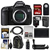 Canon EOS 5DS R Digital SLR Camera Body with 64GB Card + Backpack + Flash + Battery & Charger + Grip + Remote + Kit For Sale