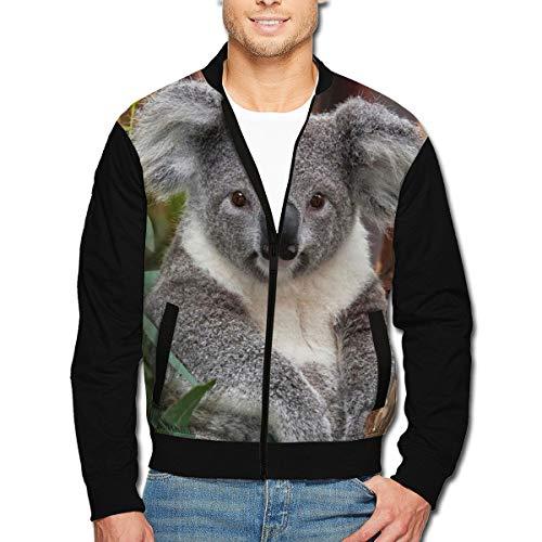 Men's Jacket Full-Zip Jacket Koala Tree 3D Print Outdoor Zipper Sweatshirt Tops -