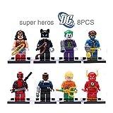 8pcs/Set Super Heroes Flash Deadpool Avengers Building Bricks Blocks Figures Minifigures Learning Toys Compatible With Lego (WITHOUT original boxes)