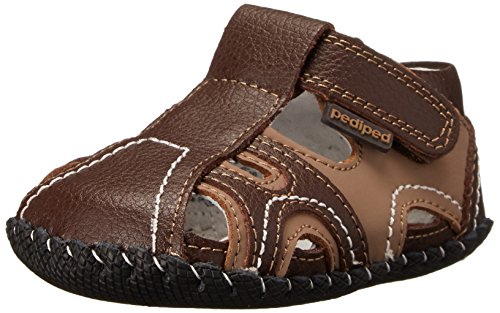 pediped Brody Originals Fisherman Sandal (Infant/Toddler),Brown Tan,Small (6-12 Months)