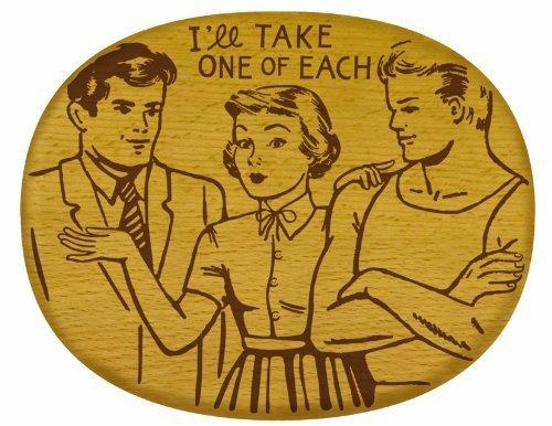 Talisman Designs Get Real Pop Art Beechwood Cheese Board , I Will Take One of Each Design by Talisman Designs