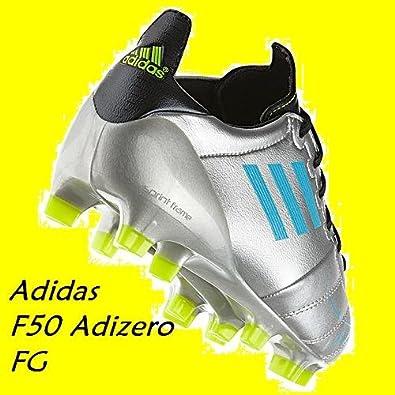 buy popular f1b26 d87a3 adidas F50 Adizero TRX - Scarpe da calcio in pelle, colore argentoblu  grigio Size 4 UK Amazon.it Scarpe e borse