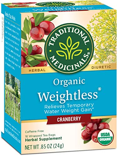 Traditional Medicinals Organic Weightless Cranberry Women's Tea, 16 Tea Bags (Pack of 6) (Medicinal Tea Period)