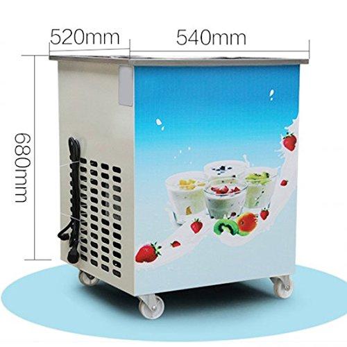 Genmine Fried Ice Cream Machine, Single Round Pan Fried Ice Cream Roll Maker Pan Diameter 14.2'' Commercial Fried Milk Yogurt Machine by Genmine (Image #4)