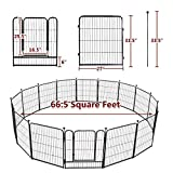 "TOOCA Dog Pen 16 Panels 32"" Height RV Dog Fence"