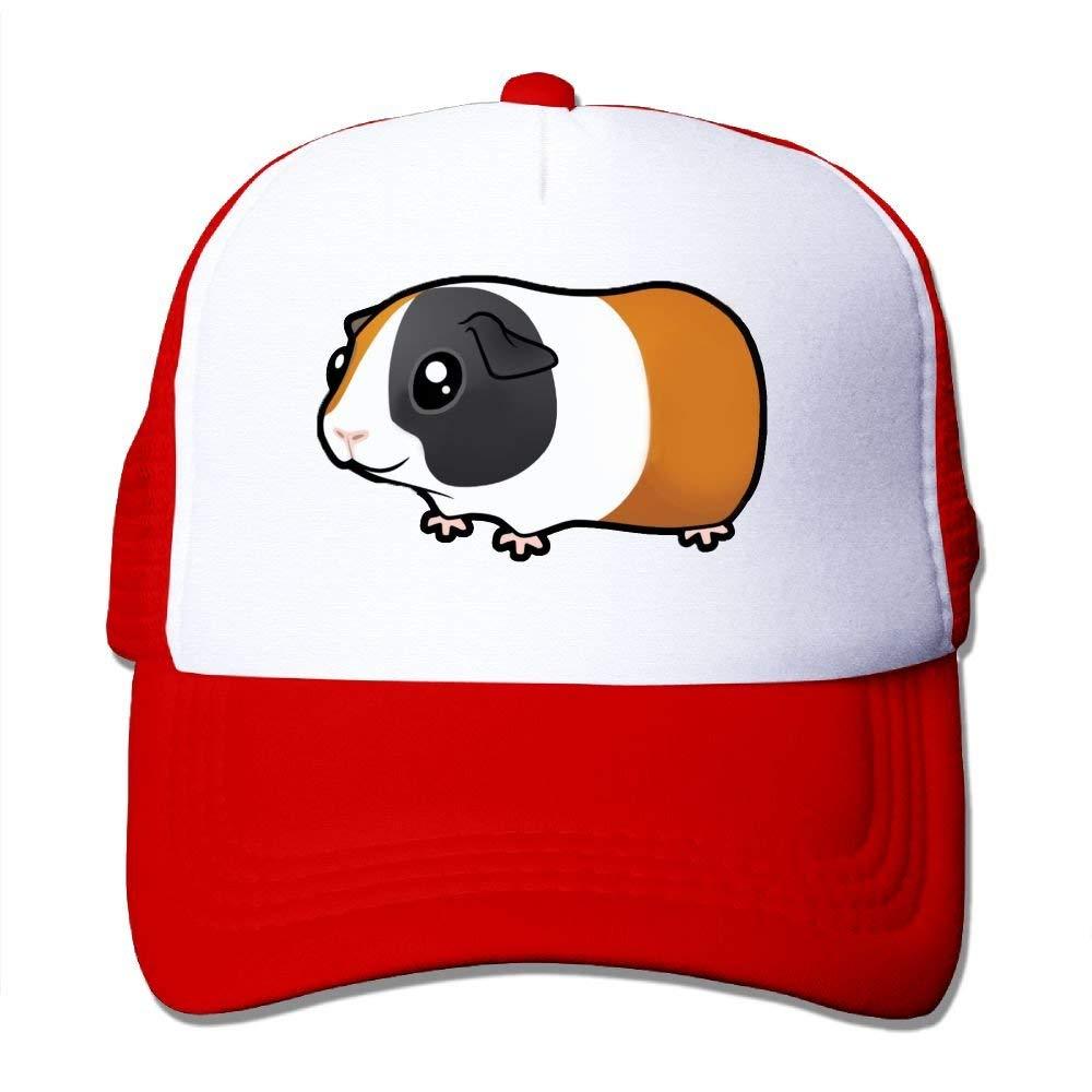Einfache Meerschweinchen Wheek Mesh Trucker Caps//H/üte einstellbar f/ür Unisex Schwarz