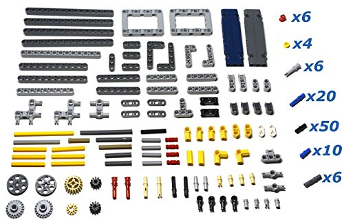 LEGO TECHNIC 212 piece supplemental parts pack with beams, liftarms, axles, gears, and pins. Mindstorms, EV3, NXT compatible