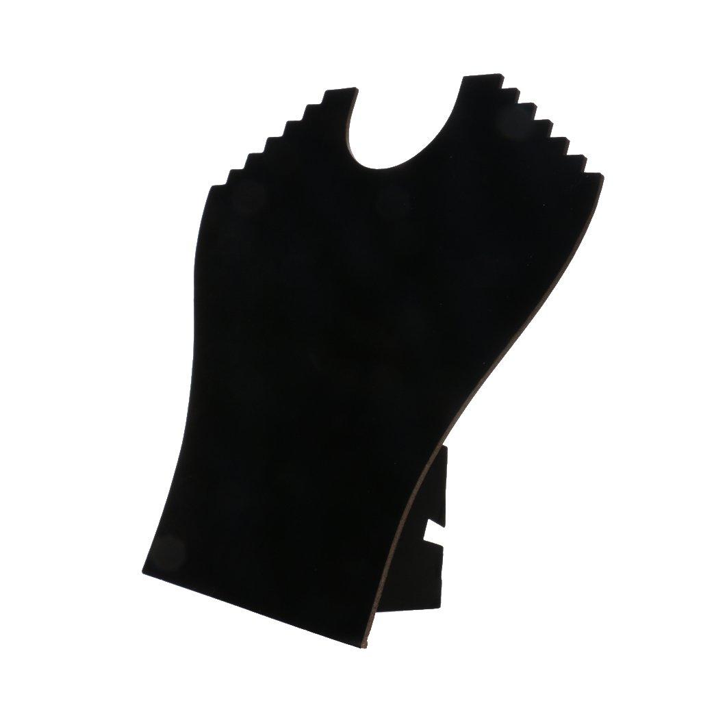Busto De Terciopelo Negro De La Cadena Collar De Exhibicion De La Joyeria Del Soporte Del Sostenedor Del Organizador