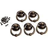 Retro European Style Cabinet Drawer Dresser Jewelry Box Pull Handle Ring Knobs 5pc