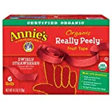 Annie's Organic Really Peely Fruit Tape Swirly Strawberry 6 ct 4.5 oz