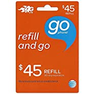 45 Dollar ATT Go Phone Refill Card. Get It Quickly With Amazon Prime.