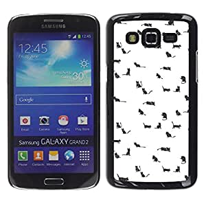 LECELL--Funda protectora / Cubierta / Piel For Samsung Galaxy Grand 2 SM-G7102 SM-G7105 -- Black White Art Beautiful Flight --