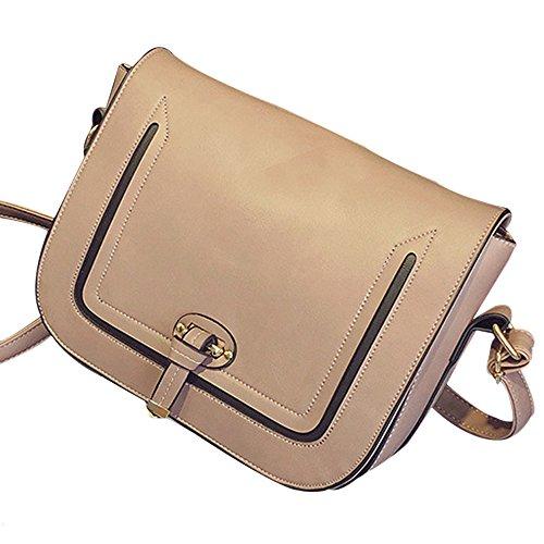 JUND - Bolso mochila para mujer Gris gris Rosa