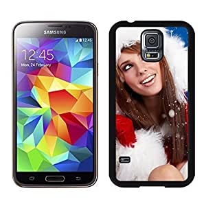 S5 Case,Christmas Girls TPU Black Case For Galaxy S5,Samsung Galaxy S5 I9600 Protective